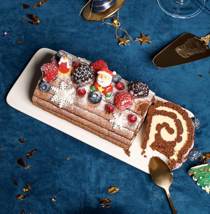 Фото №1 - Десерт для новогоднего стола: рождественское полено