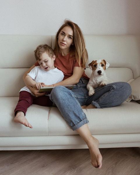 Наташа Мишина с сыном Ваней