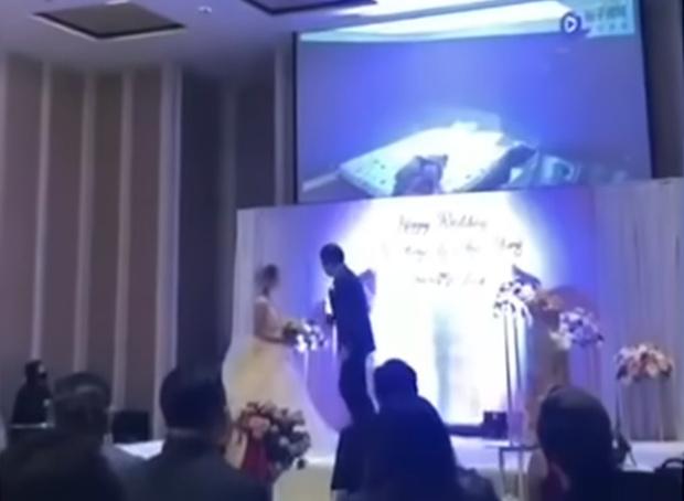 Фото №1 - Жених прямо во время свадьбы показал видео, на котором невеста ему изменяет (видео)