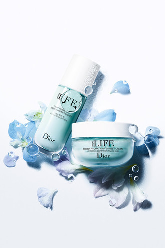 Увлажняющая сыворотка 3-в-1 для естественно красивой кожи и увлажняющий крем-сорбе линии Dior Hydra Life, Dior.