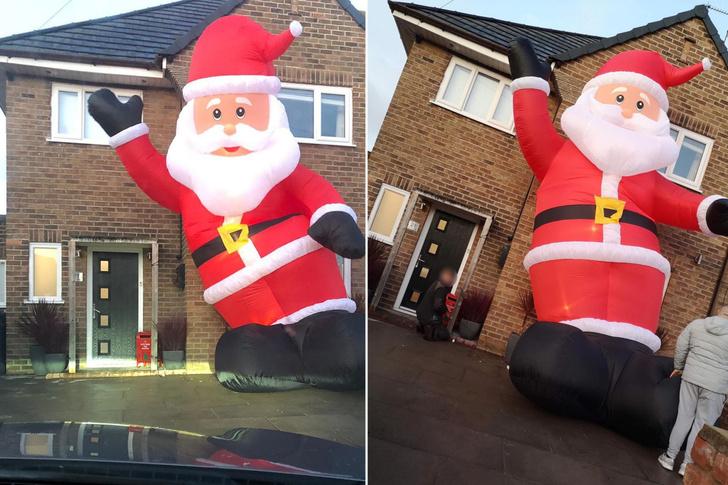 Фото №2 - Британец заказал на eBay надувного Санту для украшения дома, но Санта оказался размером почти с дом