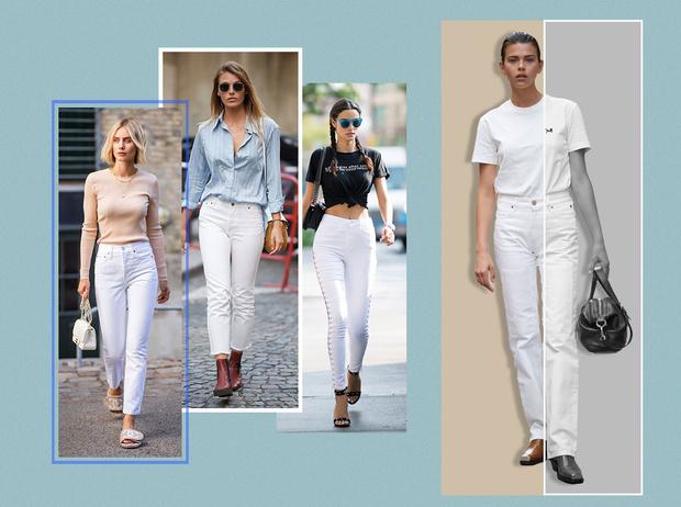 Фото №1 - 3 сочетания с белыми джинсами, которые облегчат сборы