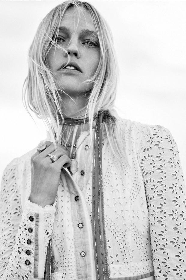 Фото №1 - Российская супермодель Саша Пивоварова в чарующей белоснежной рекламной кампании Zara