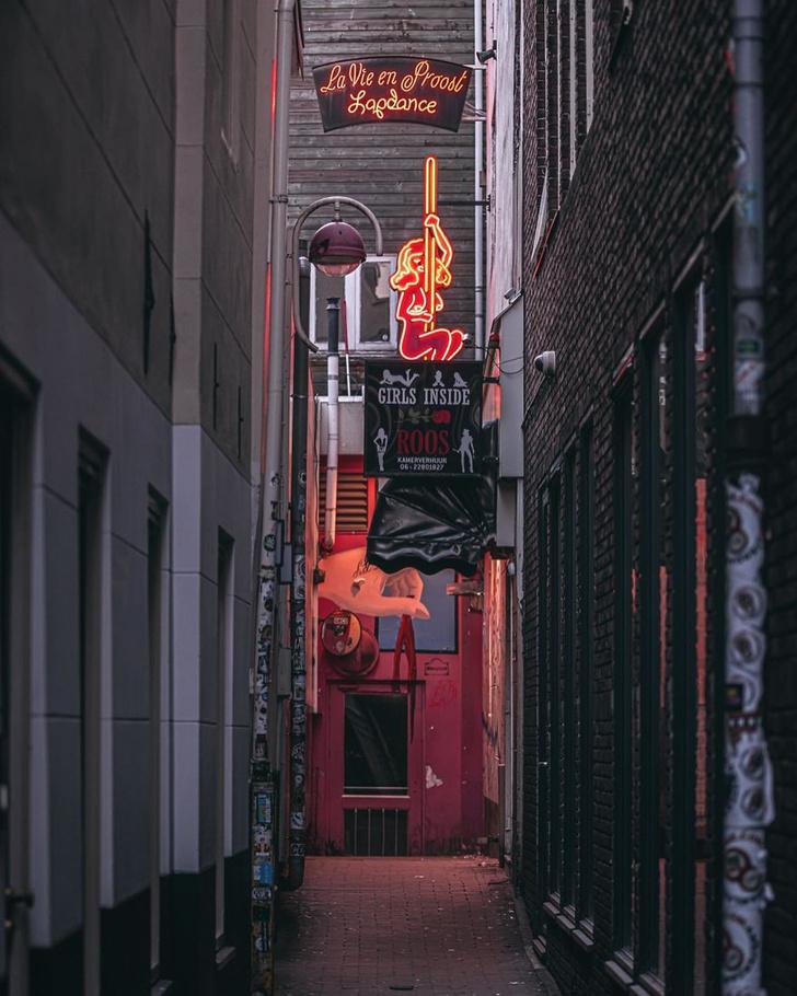 Фото №2 - Фотограф из Амстердама показал, как квартал красных фонарей живет при карантине
