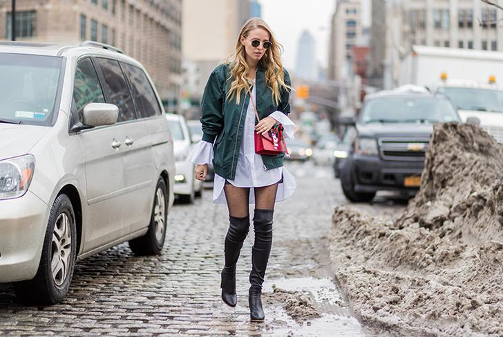 Немецкий модный блогггер Леони Ханне Софи на улицах Нью-Йорка. 2017 год
