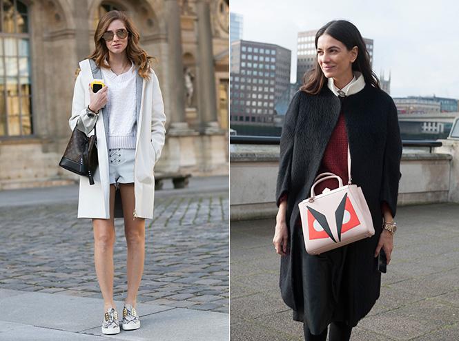 Street-style с недели моды в Париже и Лондоне