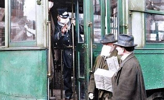 Фото №1 - Будни эпидемии испанки: 12 раскрашенных фотографий 1918 года