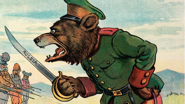 Карикатура в британской прессе, 1901 год.
