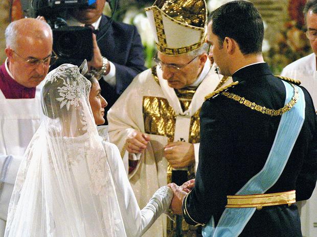 Фото №5 - Какой была свадьба короля Филиппа и королевы Летиции: история в фотографиях