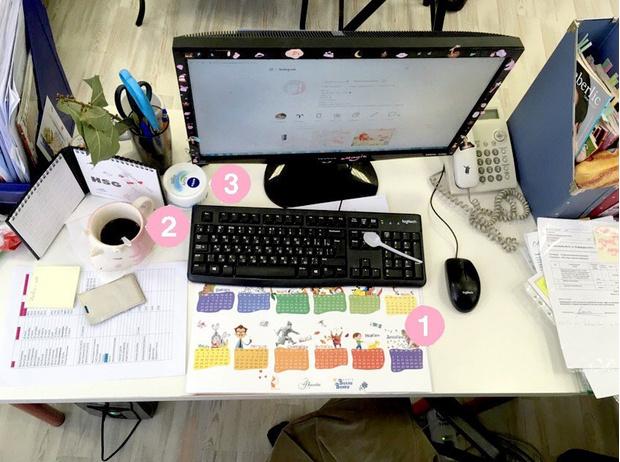 Фото №2 - Кукла вуду, наушники и еда: что на рабочих столах у редакции Elle Girl