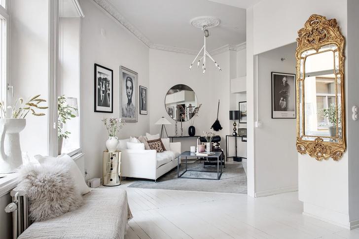 Фото №5 - Маленькая скандинавская квартира со спальней на антресоли
