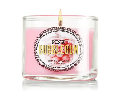 Ароматическая свеча Pink Bubble Gum, Bath&Body Works