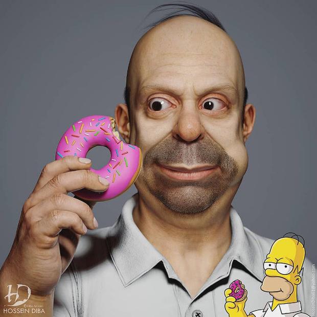Фото №1 - Художник показал, как выглядели бы Симпсоны в реальной жизни