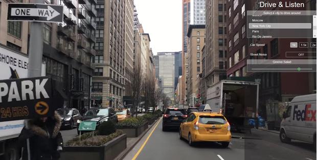 Фото №1 - Сайт, при помощи которого можно кататься по городам мира на машине и слушать радио