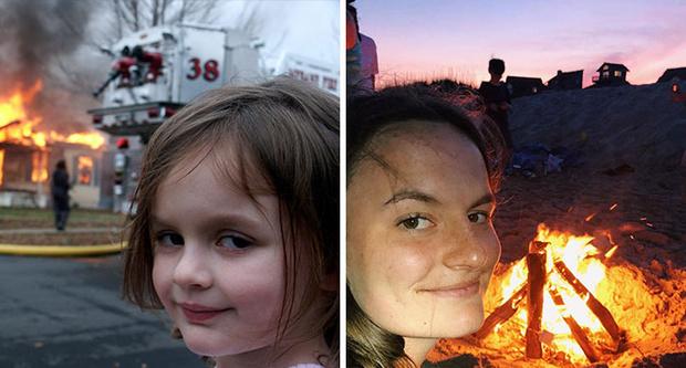 девочка-катастрофа, поджигательница, Disaster Girl