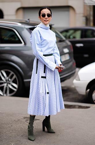 Фото №16 - Как носить самые модные юбки сезона: мастер-класс от звезд street style хроник