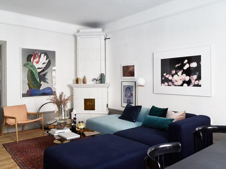 Фото №1 - Квартира в доме начала XX века с печкой в Стокгольме