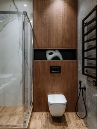 Фото №8 - Сила контраста: строгая мужская квартира 112 м²
