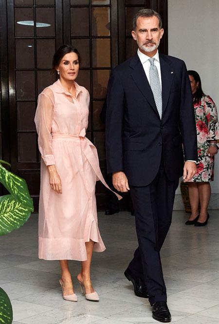 Королева Летиция и Филипп VI в Гаване