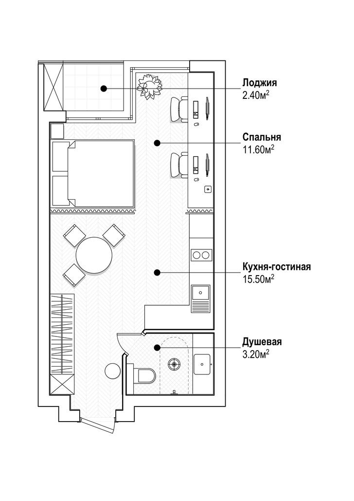 Фото №14 - Яркая квартира 30 м² для молодой пары, работающей из дома