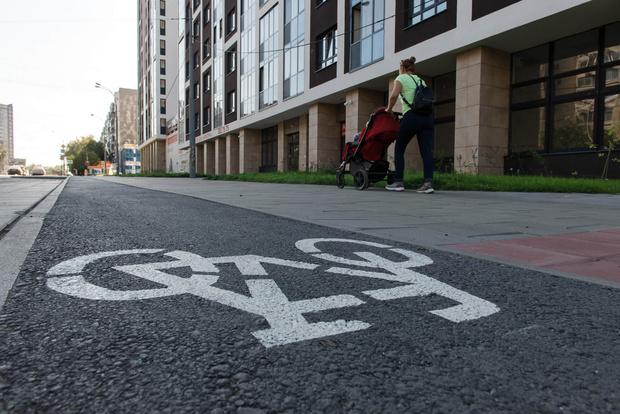 У ЖК «Культура» нашлось даже место для велодорожки.