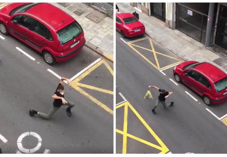 Фото №1 - Испанский танцор устроил соседям перформанс, пока выбрасывал мусор