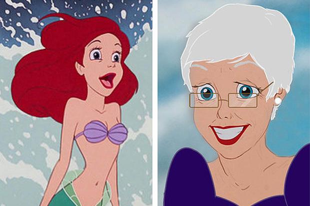 Фото №1 - Как принцессы Disney выглядели бы в старости?