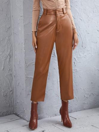 Фото №4 - Где купить цветные кожаные штаны— самый модный хит осени 2021