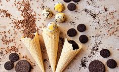 Мороженое из гречи с печеньем Oreo