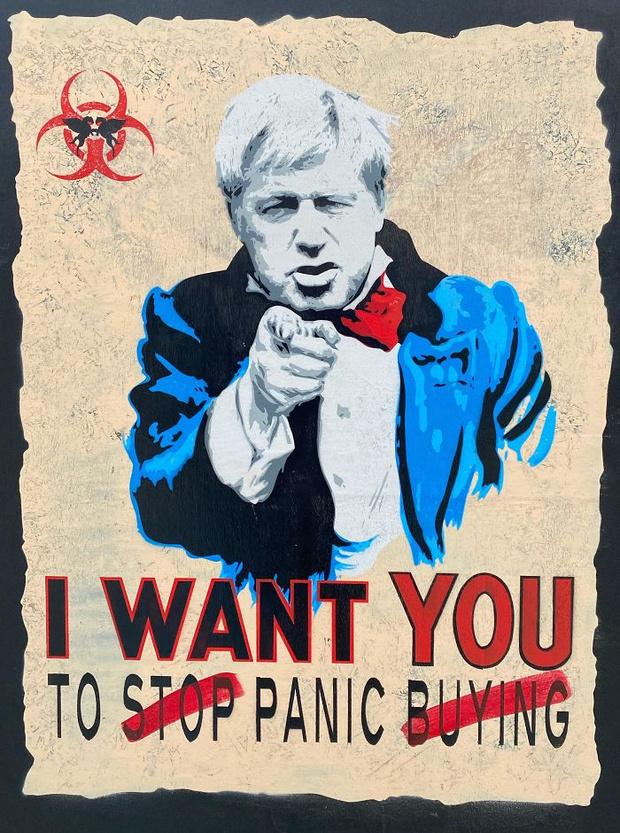Фото №18 - 20 граффити со всего мира, навеянные коронавирусом