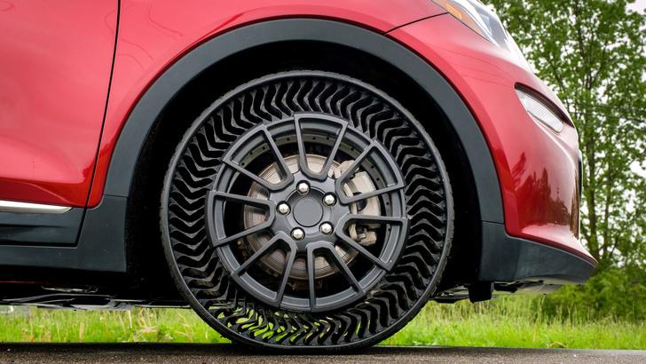 Фото №1 - Изобретены шины, которые никогда не нужно накачивать