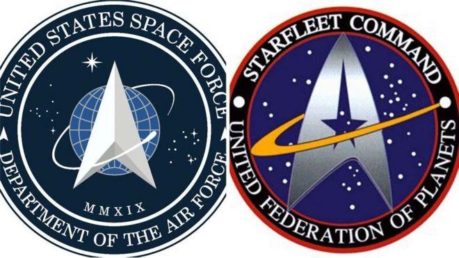 Фото №2 - Космические силы США заподозрены в краже эмблемы из сериала Star Trek. Военные оправдываются, что придумали ее первыми