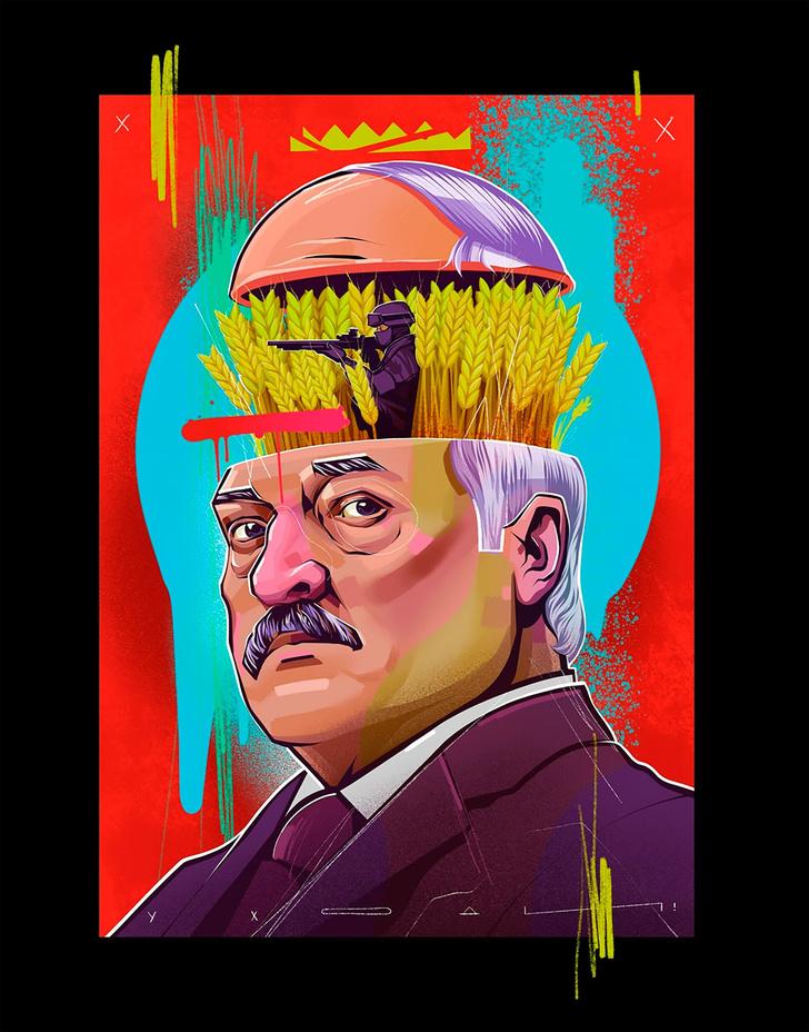 Фото №1 - Художники разных стран рисуют плакаты в поддержку Белоруссии (63 рисунка)
