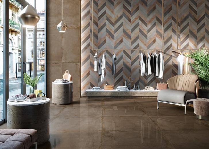 Фото №2 - Тренды 2020: дизайн керамических покрытий под металл