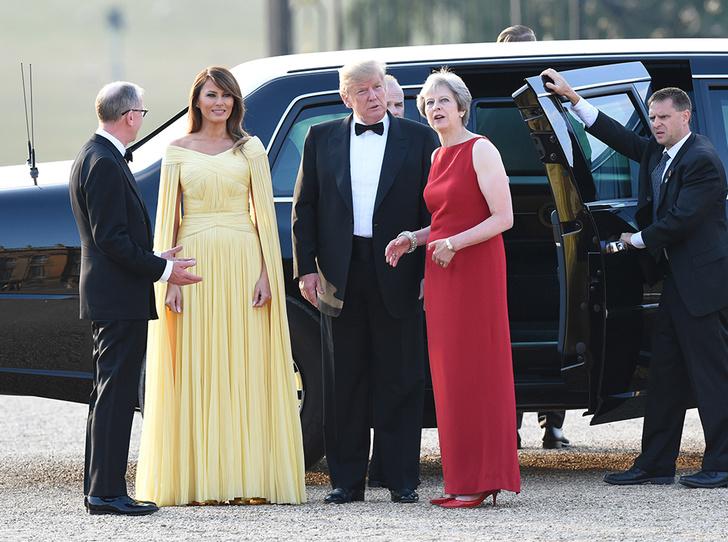 Фото №6 - Мелания Трамп «украла шоу» на гала-ужине в Бленхеймском дворце