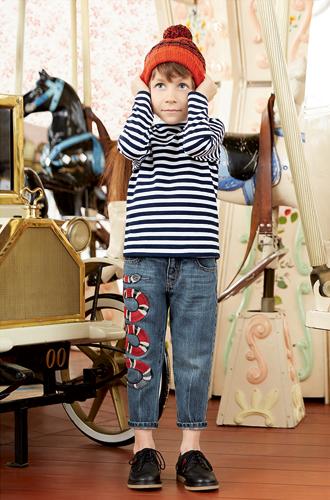 Фото №18 - Золотая карусель: лукбук осенне-зимней детской коллекции Gucci 2016/17