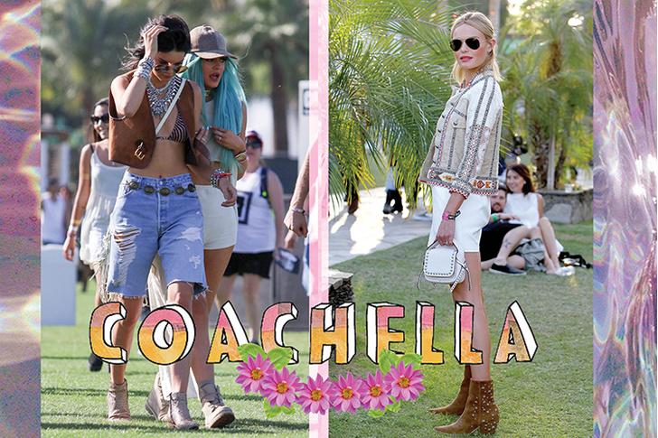 Гости фестиваля Coachella: Кендалл Дженнер, Кайли Дженнер, актриса Кейт Босуорт