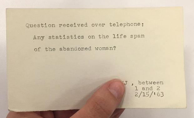 Фото №4 - Принадлежит ли женщина к классу млекопитающих и другие смешные вопросы, которые задавали библиотекарям до появления Интернета