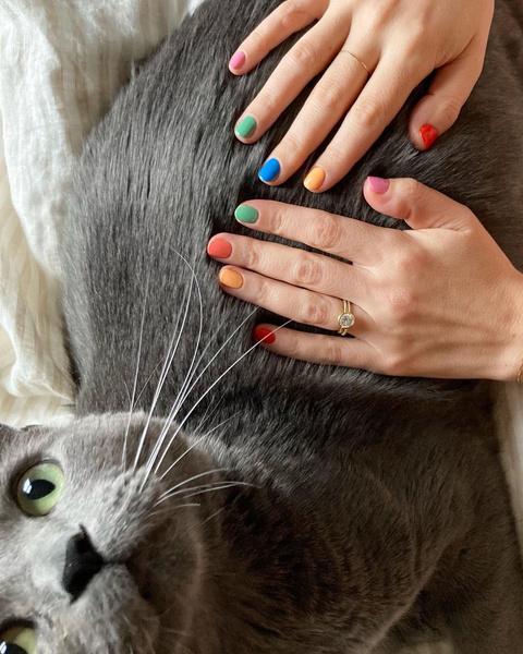 Фото №2 - Skittle nails: 12 идей конфетного маникюра