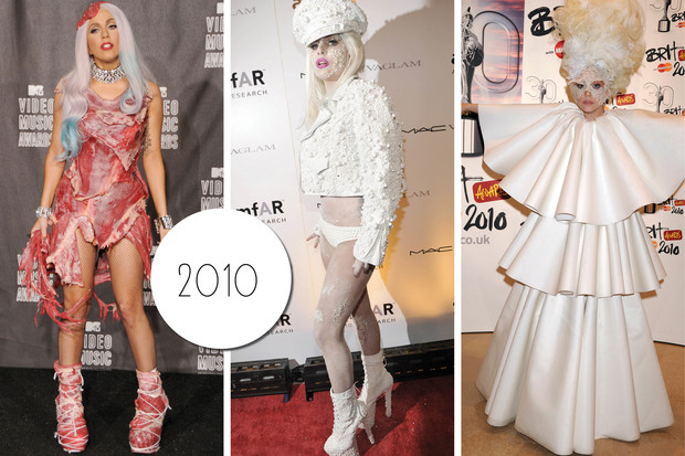 Эволюция стиля Леди Гаги: 2010 год