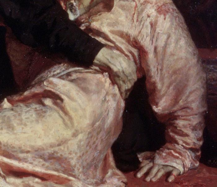 Фото №6 - Культурный код: 9 секретов картины «Иван Грозный и сын его Иван...» Ильи Репина