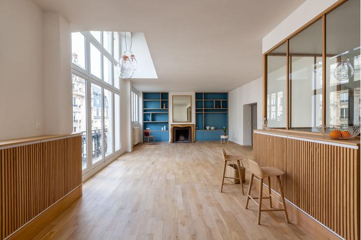 Фото №2 - Трехуровневая квартира в Париже