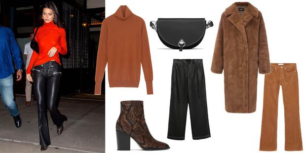 Фото №2 - Look дня: Кендалл Дженнер покажет, как быть женственной в кожаных брюках