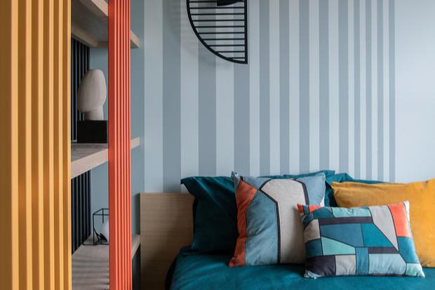 Фото №7 - Цветные сны: Color Blocking в спальне