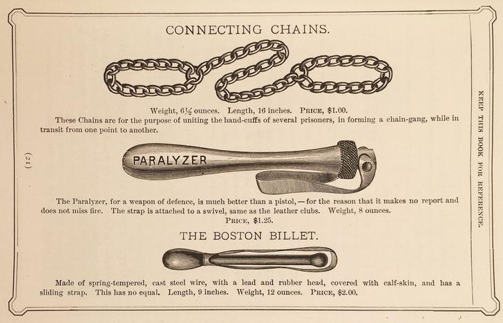 Фото №2 - Иллюстрированный каталог полицейского снаряжения 1891 года