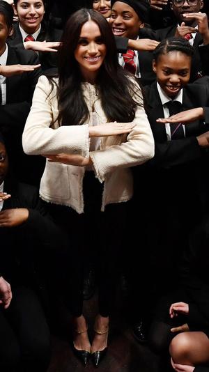 Фото №11 - Дипломатия стиля: 8 случаев, когда Меган делала заявления при помощи моды
