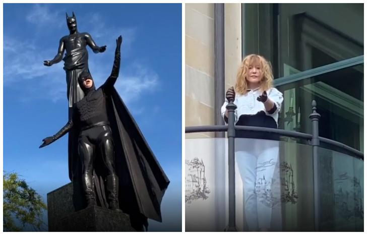 Фото №1 - Максим Галкин в костюме Бэтмена спел арию карантинного Мистера Икс (видео)