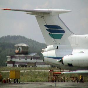 Фото №1 - Ту-154 совершил аварийную посадку в Красноярске