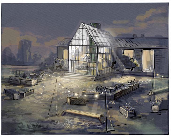 Фото №1 - Готовый проект: крытая терраса в саду