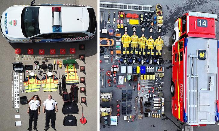Фото №1 - Пожарные, полицейские и врачи скорой помощи разных стран выкладывают фотографии со своей экипировкой (21 снимок)